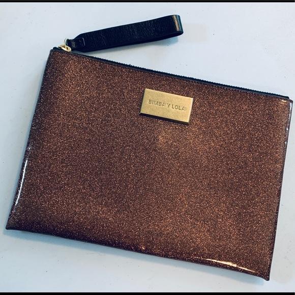 BIMBA Y LOLA Handbags - BIMBA Y LOLA Clutch purse faux copper metallic